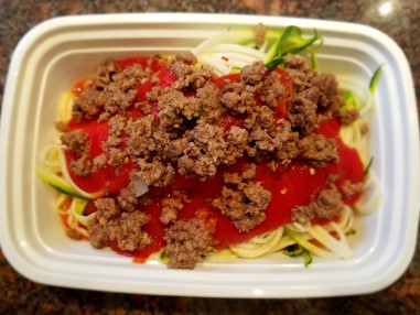 easy healthy meals - spaghetti with meat sauce