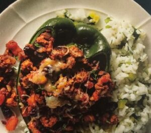 Chili Stuffed Poblano Peppers