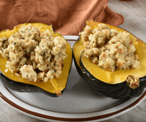 Rice Stuffed Acorn Squash